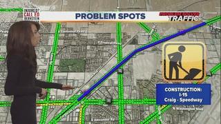 Lane restrictions on Interstate 15 in NE Vegas