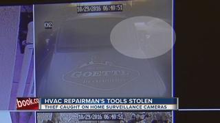 CAUGHT ON CAMERA: HVAC technician's tools stolen