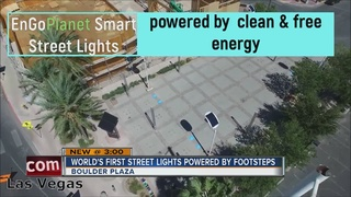 Solar-kinetic street lights installed downtown
