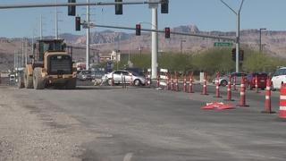 TRAFFIC TROUBLES: Utility work in SW Las Vegas