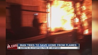 Man loses everything after shed catches fire
