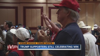 Local Trump supporters react to win