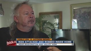 Man tied up, beaten during home invasion