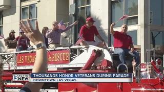 Veterans Day parade held on Friday