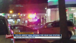 Man in custody after shooting at gas station