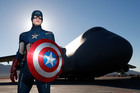 Captain America wax figure at NAFB