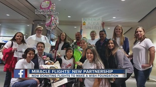 Make-A-Wish teams with Miracle Flights