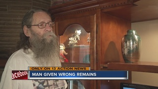 Grieving father given wrong remains