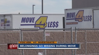 YOU ASK. Family items stolen during move