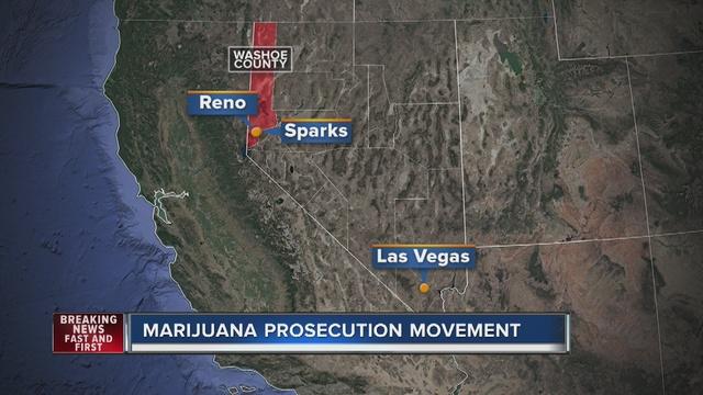 Reno not prosecuting minor pot possession cases