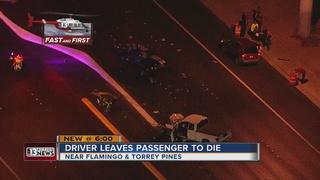 Woman killed in crash, police seek suspect