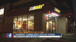 Robbery suspect arrested after high-speed chase