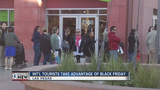 Tourists travel to Vegas for Black Friday