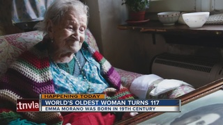 Oldest living woman turns 117