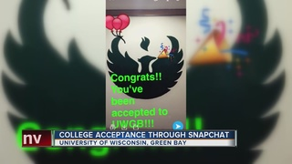 Snapchat replacing college acceptance letters