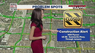 Lane closures, restrictions on Summerlin Pkwy.