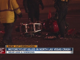Motorcyclist killed in NLV crash identified