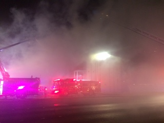 Apartment building catches fire near downtown