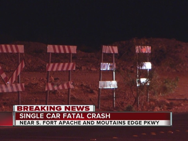 One dead in crash near Fort Apache, Mountains Edge Parkway