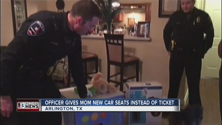 Officer buys car seats for mom he pulled over