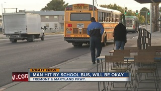 Man struck by CCSD bus on Thursday