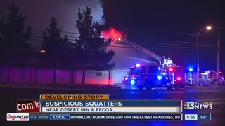 Neighbors say squatters caused building fire