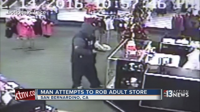 Caught on Camera: Store Employees Throw Sex Toys at Armed Robber