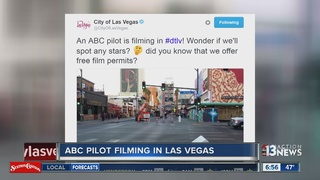ABC pilot filming in downtown Las Vegas