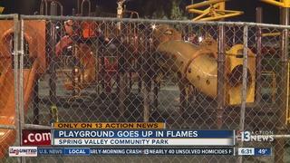 Playground fire under investigation