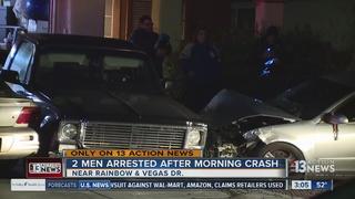 UPDATE: 2 men arrested after early morning crash