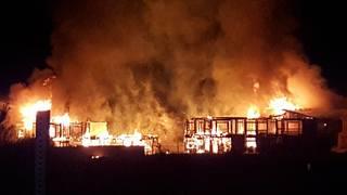 Massive fire at complex under construction