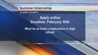 Vegas summer business intern program taking apps