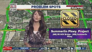 More closures for Summerlin Parkway construction