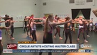Cirque artists host master class for students