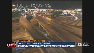 More lane closures along US 95 for Project Neon