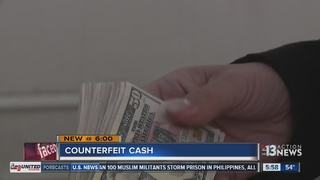 Woman receives counterfeit cash in sale