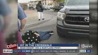 Woman struck by car in crosswalk