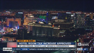 Las Vegas valley cities approve hotel tax hikes