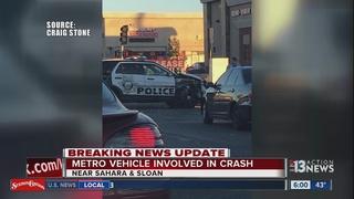 Las Vegas police vehicle involved in crash