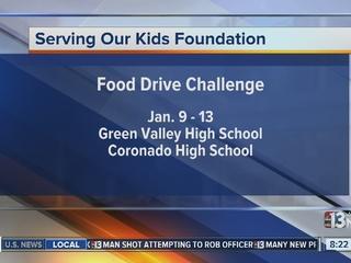 2 local high schools begin food drive