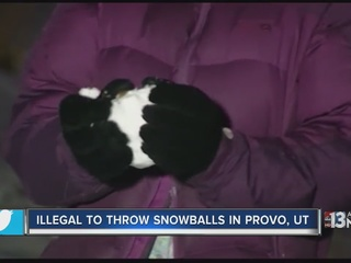 Don't throw snowballs in Provo
