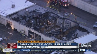 UPDATE: Family shop burns weeks after tragedy