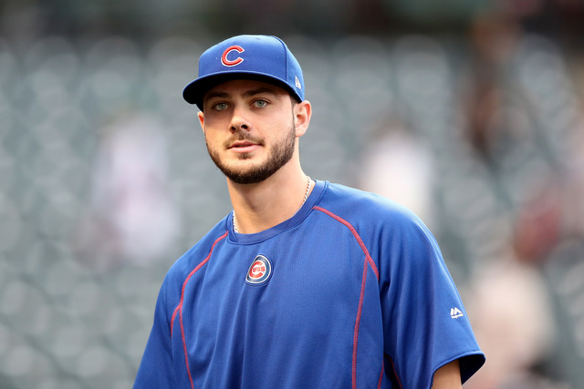 Baseball star Kris Bryant marries longtime girlfriend in Las Vegas