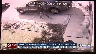 CAUGHT ON CAMERA: Gift stolen from doorstep
