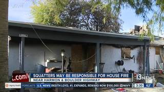 UPDATE: Neighbors blame squatters for home fire