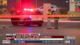 Man in critical condition after Tuesday stabbing