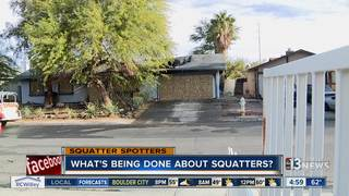 What's being done about squatters?