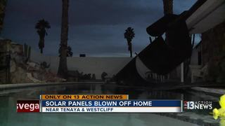 Strong winds rip solar panels off home