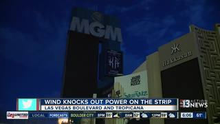 MGM Resorts says power outage wind-related