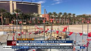 Golden Knights practice facility making progress